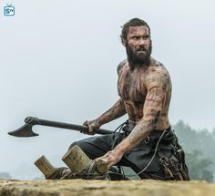 Vikings, Rollo, axe, powerful face, intense eyes, strong, hands, skin, macho, great tv, photo