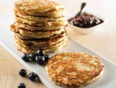 Brunchpandekager opskrift med havre - se her Sweet Recipes, Pancakes, Breakfast, Morning Coffee, Pancake, Crepes