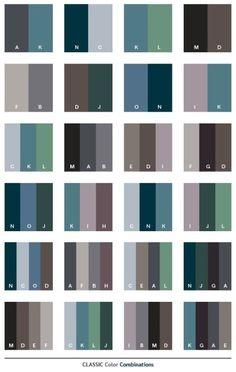 Classic color schemes, color combinations, color palettes for print (CMYK) and Web (RGB + HTML) Colour Pallete, Color Combinations, Color Palettes, Combination Colors, Paint Colors For Home, House Colors, Room Color Schemes, Beach Color Schemes, Colour Board