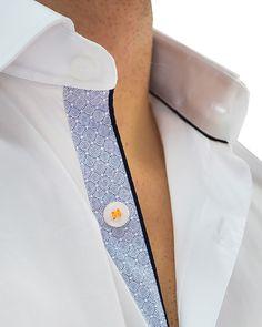 Stone Rose White Gathered Designer Shirt - WHITE