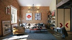 Attractive loft apartment #loft, #apartments, #vetrov