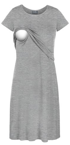 Tee shirt nursing lounge dress - this online store sells cute, comfy nursing clothes