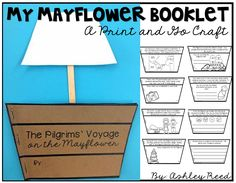 This print and go Mayflower book craft includes reading information text and responding through writing and drawing!