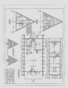 36' A-Frame Cabin Plans