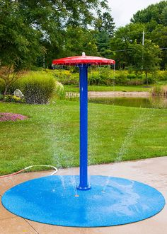 Enhance your Portable Splash Pad and enjoy the spray park experience in your own backyard with our Mushroom Portable Splash Pad Water Play Features. Backyard Dog Area, Backyard Water Parks, Backyard Ideas For Small Yards, Backyard For Kids, Backyard Landscaping, Backyard Play Areas, Landscaping Ideas, Large Backyard, Dog Playground