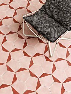 Claesson Koivisto Runes Cement Tiles by Marrakech Design.Expert – Distributor of Moroccan Tiles Floor Patterns, Tile Patterns, Textures Patterns, Geometric Patterns, Geometric Tiles, Floor Design, Tile Design, Design Bathroom, Pink Room