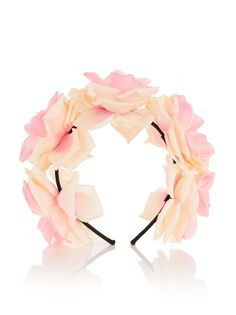 Flower Crown Alice Band Pink.  #flowercrown #fashion #festival