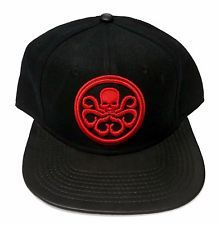 3e123edf3dd16 New Marvel Hydra Embroidered Logo Black Baseball Snapback Hat Cap