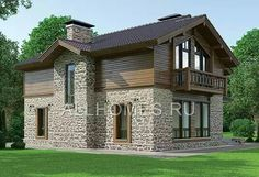 Cabin House Plans, My Secret Garden, Cabin Homes, My House, Beautiful Homes, Architecture Design, Villa, House Design, Mansions