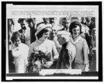 1 photograph : giclée print ; sheet 41 x 51 cm (16 x 20 format) | Photograph shows First Lady Jacqueline Kennedy visiting the Universidad Central de Venezuela in Caracas.