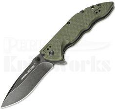 Perry Knife Works - Real Steel E77 Green G-10 Linerlock Flipper Knife (Black Stonewash), $23.00 (http://www.perryknifeworks.com/real-steel-e77-green-g-10-linerlock-flipper-knife-black-stonewash/)