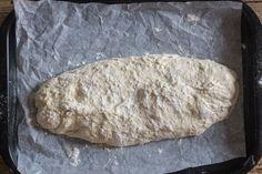 Easy No Knead Homemade Italian Ciabatta Bread - An Italian in my Kitchen Crusty French Baguette Recipe, Italian Bread Recipes, Sourdough Bread Starter, No Knead Bread, Easy Bread, Ciabatta, Bread Baking, Pain, Homemade