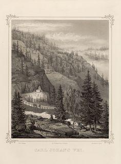 Norge fremstillet i Tegninger - Jacob Mathias Calmeyer - Carl Johans vei. jpg (3640×4944)