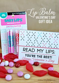 Adorable Printable Lip Balm Valentine's Day Gift Idea
