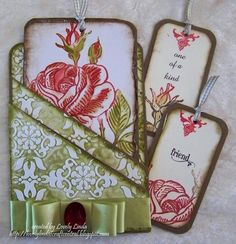 could use as pockets in  smash book......LOC SSIC Pocket Full of Roses by Lovely Linda - Cards and Paper Crafts at Splitcoaststampers