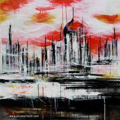 """Empire of the Sun"" acrylic on canvas 50x50cm www.alicebernardi.com"