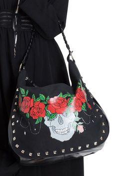 d0e52cf83feed GOTHIC Shoulder BAG Skull Rose Crown JAWBREAKER Alternative Fashion