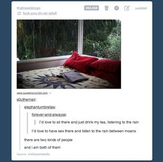 Oh, Tumblr. There are two kinds of people... Or maybe just two trapped in one?