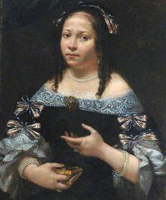 Portrait of a Lady Holding a Book - PIER FRANCESCO CITTADINI