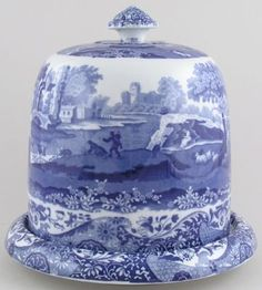 Spode italian cheese dome circa 1920