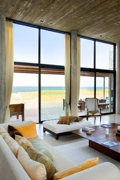 Wow, now that's a beach house with a view!