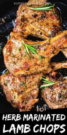 Bbq Lamb Chops, Lamb Chops Marinade, Beef Chops, Grilled Lamb Chops, Beef Marinade, Pork Sausage Recipes, Lamb Chop Recipes, Roast Recipes, Grilling Recipes