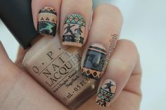 """""""Lady of the night"""" Tribal (Inspired by wearsin Leggings) by Coewless nails"""