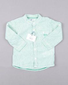 Camisa básica de rayas marca Sfera http://www.quiquilo.es/catalogo-ropa-segunda-mano/camisa-basica-de-rayas-en-color-verde-marca-sfera.html