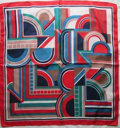 9042b21d50cd -Superbe Foulard CHRISTIAN DIOR 100% soie TBEG vintage scarf