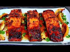 Browned Butter Honey Garlic Salmon Recipe – Easy Delicious Salmon Recipe – All Recipes Food Cooking Network Salmon Recipe For One, Honey Glazed Salmon Recipe, Honey Salmon, Garlic Salmon, Delicious Salmon Recipes, Baked Salmon Recipes, Super Healthy Recipes, Seafood Recipes, Cooking Recipes