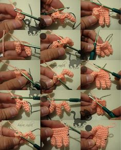 Amigurumi Making Hands - Photo Tutorial ❥ 4U // hf