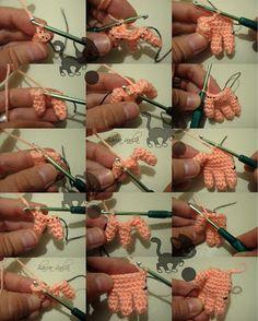 Amigurumi Making Hands - Photo Tutorial Moss * ༺✿ƬⱤღ https://www.pinterest.com/teretegui/✿༻
