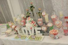 Vintage Romantic Pastels Candy Buffet