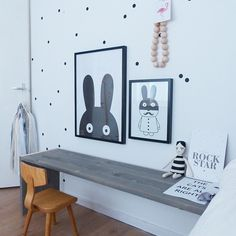 Kids place white black dots wall decal