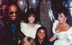 Michael, Liz Taylor and other friends