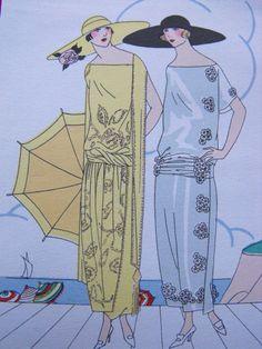 Jean Patou Haute couture Pochoir original art gout beauté Fashion french 1922
