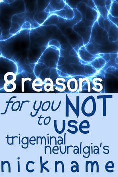 It's only a harmless nickname, right? Wrong. Why we should not call TN the suicide disease. #TrigeminalNeuralgia #DitchTheNickname Chronic Illness, Chronic Pain, Fibromyalgia, Social Stigma, Trigeminal Neuralgia, Medical Journals, Opinion Writing, Physical Pain, Practical Jokes