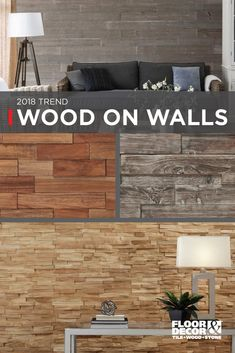 Wood statement walls are taking over. From large planks to small panels, add warmth with wood on walls. Get inspired with our wall wood selection in our Inspiration Catalog on page Floor & Decor Home Renovation, Home Remodeling, Floor Decor, Looks Cool, Wall Wood, Wood Walls, My Dream Home, Home Projects, Farmhouse Decor