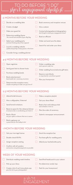 A short engagement checklist to help you plan your wedding in 6 months or less! // How to Plan Your Wedding in Six Months or Less | Planning Timeline – A Short Engagement