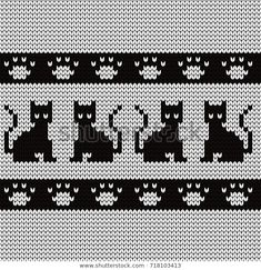 Find Knitted Seamless Pattern Cats Pads stock images in HD and millions of other royalty-free stock photos, illustrations and vectors in the Shutterstock collection. Thousands of new, high-quality pictures added every day. Tapestry Crochet, Knit Crochet, Knitting Charts, Knitting Patterns, Nerdy, Free Pattern, Royalty Free Stock Photos, Cross Stitch, Cats