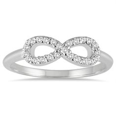 10k White Gold 1/10ct TDW Diamond Infinity Ring (I-J, I1-I2) - Overstock™ Shopping - Top Rated Diamond Rings