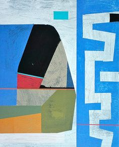 blue abstract art by Jim Harris