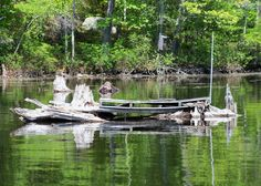A photo of someones dock on Bunganut Lake in Lyman, Maine (5-20-12).