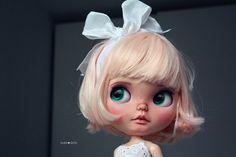 Peach custom Blythe doll by Jodiedolls by Jodiedolls on Etsy