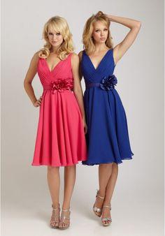 129.00  Chiffon V-Neck A-Line Short Bridesmaid Dress Allure Bridesmaid  Dresses e48bad55c