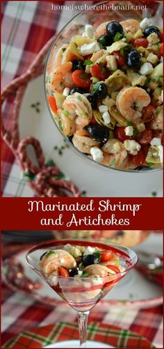 Marinated Shrimp and Artichokes - from The Home Is Where The Boat Is site