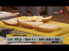 Receta de hoy: Sandwich de lomito con papas bravas Hot Dog Buns, Hot Dogs, Ariel Rodriguez Palacios, Coco, Sandwiches, Bread, Youtube, Argentinian Recipes, Hamburgers