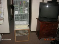 White bird cage and stand!!!
