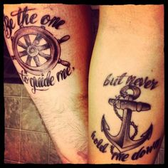 What does anchor and wheel tattoo mean? We have anchor and wheel tattoo ideas, designs, symbolism and we explain the meaning behind the tattoo. Finger Tattoos, Hand Tattoos, Tattoos Skull, Dope Tattoos, Dream Tattoos, Future Tattoos, New Tattoos, Tattos, Tattoo Ink
