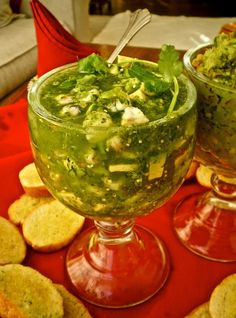 Ceviche Verde de Camaron Looks amazing, love verde sauces! Now all I need is a cold cerveza to go with it! Fish Recipes, Seafood Recipes, Mexican Food Recipes, Great Recipes, Cooking Recipes, Healthy Recipes, Ethnic Recipes, Mexican Snacks, Recipies
